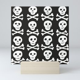 Happy Halloween skulls Mini Art Print