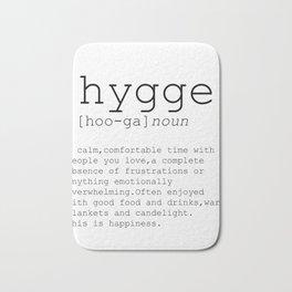 Hygge definition, romantic, dictionary art print, office decor, minimalist poster, funny Bath Mat