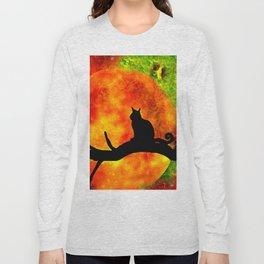 BLACK CAT HARVEST MOON 2018 Long Sleeve T-shirt