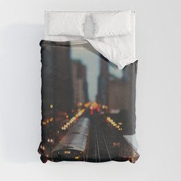 Chicago South Loop photograph Duvet Cover