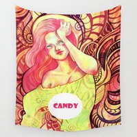 candy Wall Tapestries featuring Candy by Verismaya