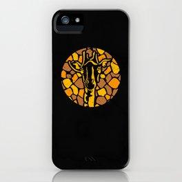 Funny Vintage Giraffe Silhouette Retro Sunset Gift Idea iPhone Case