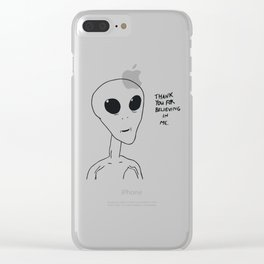 thank you for believing in me Clear iPhone Case
