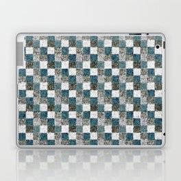 Rustic Gray Turquoise Green Beige Patchwork Laptop & iPad Skin