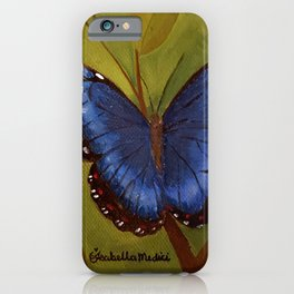 Blue Morpho Butterfly By Isabella Medici iPhone Case