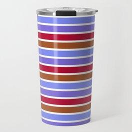 Modern violet red brown geometrical stripes pattern Travel Mug