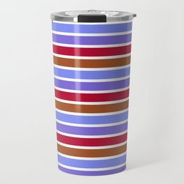 Modern violet red brown geometrical stripes pattern Travel Mug