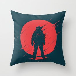 Red Sphere Throw Pillow