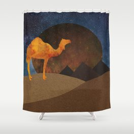Camel, Desert and Pyramid Shower Curtain