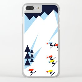 THE MOUNTAINS. NIGHT. Clear iPhone Case