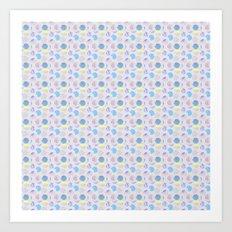 Dots Pattern - JUSTART © Art Print