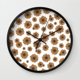 Small Sunflowers Wall Clock