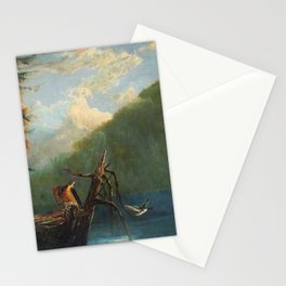 Old Man in the Mountain, White Mountains, New Hampshire landscape painting by Thomas Hill Stationery Cards