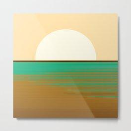 Abstraction_NEW_SUN_HORIZON_POP_ART_022AA Metal Print
