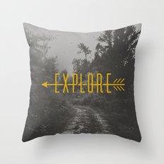 Explore (Arrow) Throw Pillow