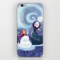 snowman iPhone & iPod Skins featuring Snowman by Samanthadoodles