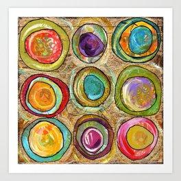 9 eggs Art Print