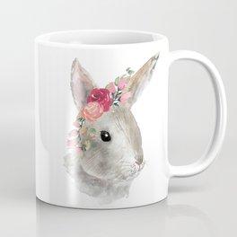 bunny with flower crown Coffee Mug