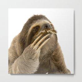 Philosophy Sloth Metal Print