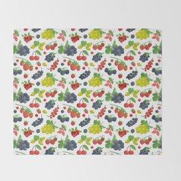 Colorful Berries Pattern Throw Blanket