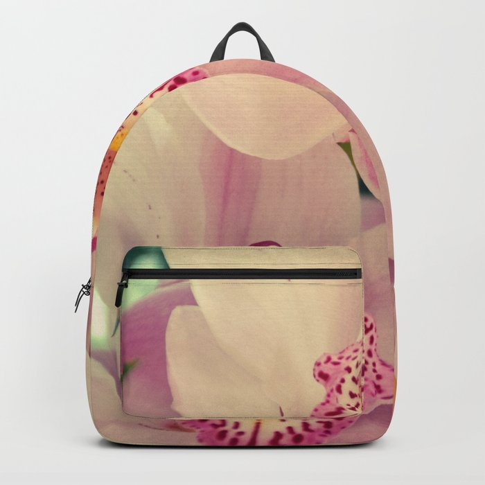 Close up Orchid #9 Backpack