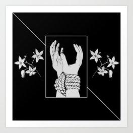 Tied & Nightshade Art Print