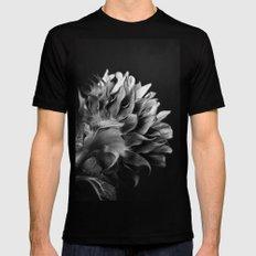 Sunflower (B&W) MEDIUM Black Mens Fitted Tee