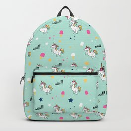 world of unicorns and ice cream Backpack