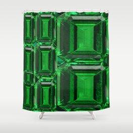 SPRING GREEN EMERALDS ART DECORATIVE  DESIGN Shower Curtain