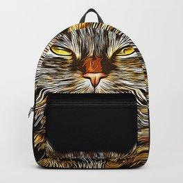 cat like a boss vector art Backpack