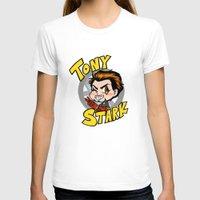 tony stark T-shirts featuring Avengers - Chibi Tony Stark by feriowind
