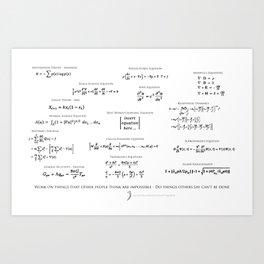 High-Math Inspiration 01 - Black Art Print