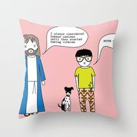 cookies Throw Pillows featuring Cookies by theswagnessofbonnie