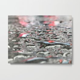 Droplets In Times Square No.2 Metal Print