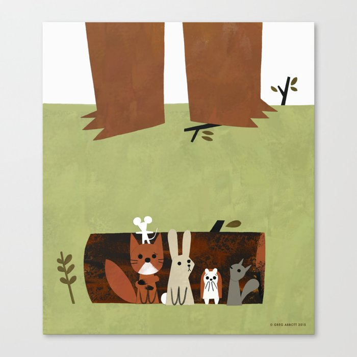 They Hid Canvas Print