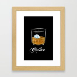 Chillax Framed Art Print