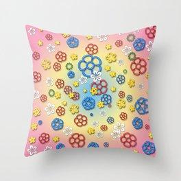 Digital springtime Throw Pillow