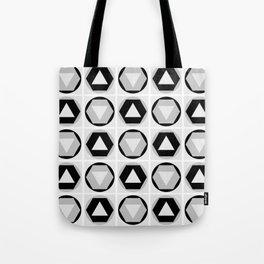 Classic Shapes Black & White Tote Bag