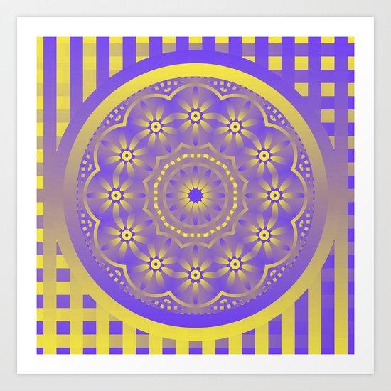 Purple/Yellow Art Print