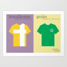 brasiliense x goiás Art Print