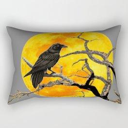 FULL MOON & RAVEN ON DEAD TREE Rectangular Pillow