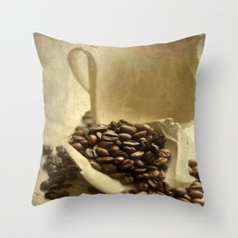 Coffee break in the morning time  Throw Pillow