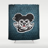 rat Shower Curtains featuring Rat by Shunshoo