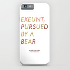 Shakespeare - The Winter's Tale - Exeunt Exit Pursued by a Bear Slim Case iPhone 6s