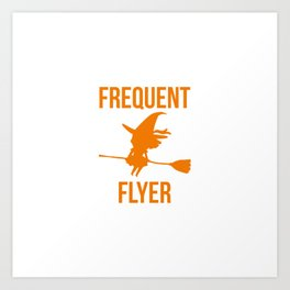Frequent Flyer Halloween Witch Art Print