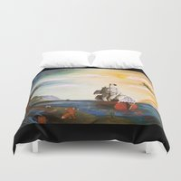 neverland Duvet Covers featuring Neverland by Art by Terrauh