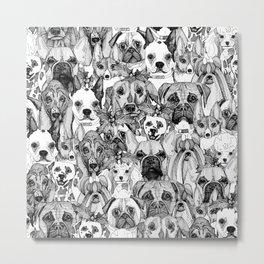 christmas dogs Metal Print