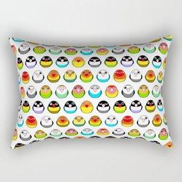 Lovebird colour mutations Rectangular Pillow