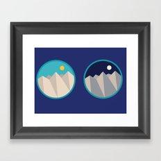 Day Mountain, Night Mountain Framed Art Print