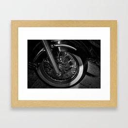 Motorcycle Wheel Framed Art Print
